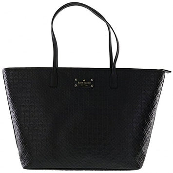 Kate Spade Margareta Penn Place Embossed Handbag - Black (WKRU3826)