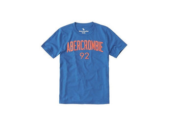 Abercrombie Kids Logo Graphic Tee Blue (223-616-0069-026)