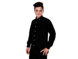 Dry Leaf Black Plain Men's Cotton Shirt