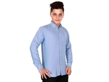 Dry Leaf Blue Chambray Men's Cotton Shirt