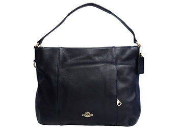 Coach Leather E/W Isabelle Shoulder Bag Midnight Navy F35809