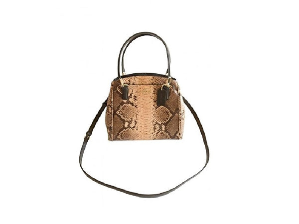 Coach Minetta Snakeskin Embossed Crossbody Satchel Handbag F35271