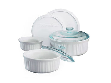 Corningware French White 7-Pc Casserole Set