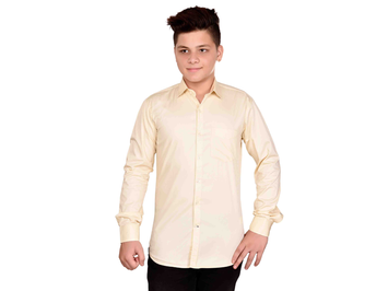 Dry Leaf Cream Plain Men's Cotton Shirt