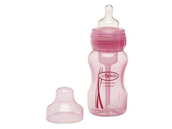 Dr Brown Wide Neck Pink Baby Bottle