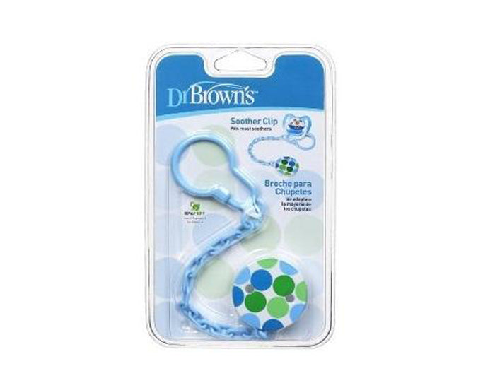 Dr. Brown's Pacifier Chain Baby Soother Clip - Blue
