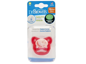 DR BROWN'S PREVENT GLOW IN THE DARK BUTTERFLY SHEILD PACIFIER PINK STAGE 3 (12M+)