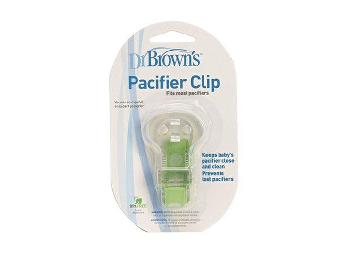 Dr Brown's Teether with Pacifier Clip (Colours May Vary)
