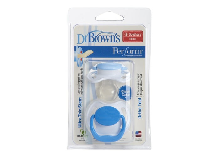 Dr. Browns Perform Pacifier with handle blue Stage 3 (18m+)