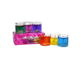 Pearl Mini Gel Candle Glass Multicolor Set