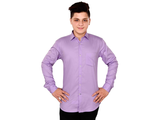 Dry Leaf Purple Twill Men's Cotton Shirt