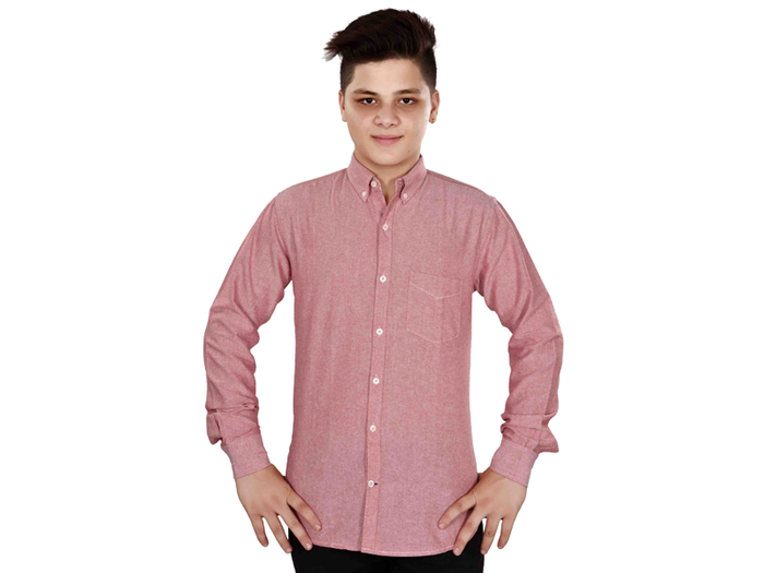 Dry Leaf Red Chambray Men's Cotton Shirt