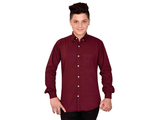 Dry Leaf Red Filafill Men's Cotton Shirt
