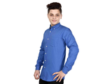 Dry Leaf Royal Blue Filafill Men's Cotton Shirt