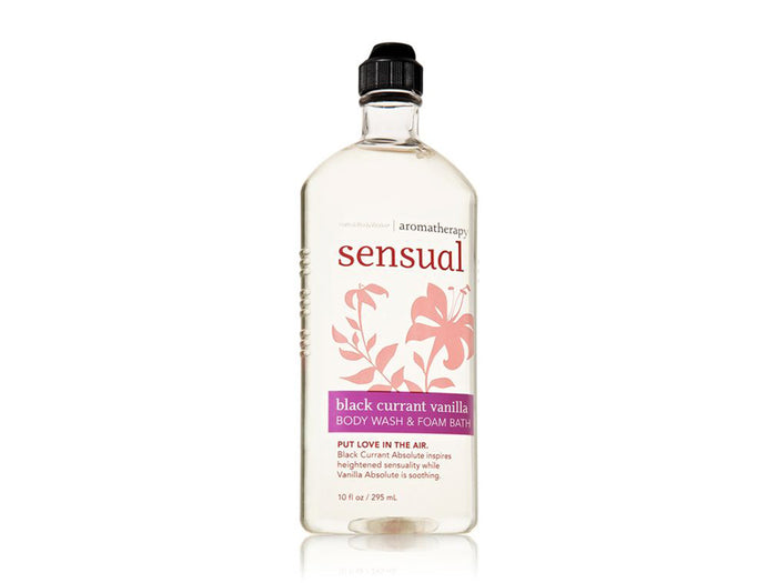 Bath Body Works Aromatherapy Sensual Body Wash & Foam Bath -  Black Currant Vanilla