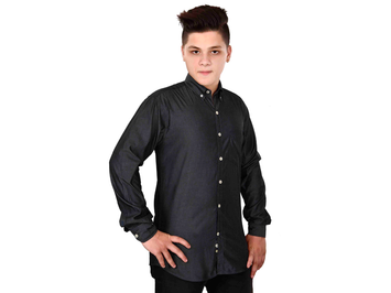 Dry Leaf Shine Grey Men's Cotton Shirt