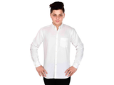 Dry Leaf White Twill Men's Cotton Shirt