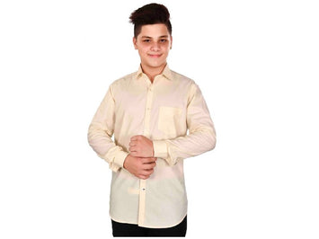 Dry Leaf Cream Twill Men's Cotton Shirt