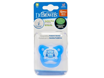 DR BROWN'S PREVENT GLOW IN THE DARK BUTTERFLY SHEILD Pacifier Blue Stage 3 (12M+)
