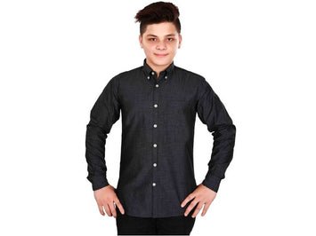 Dry Leaf Grey Filafill Men's Cotton Shirt