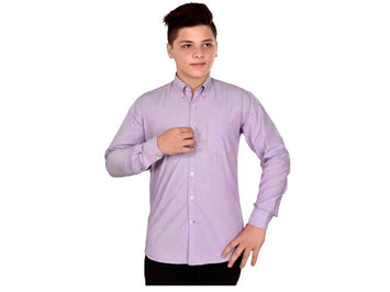 Dry Leaf Purple Filafill Men's Cotton Shirt