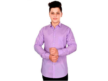 Dry Leaf Purple Plain Men's Cotton Shirt