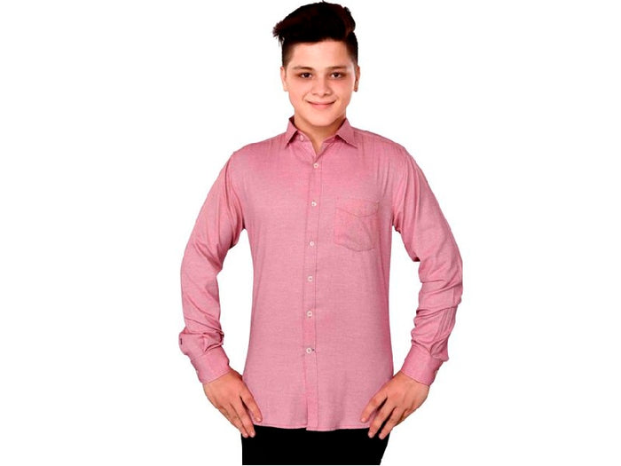 Dry Leaf Red Oxford Men's Cotton Shirt