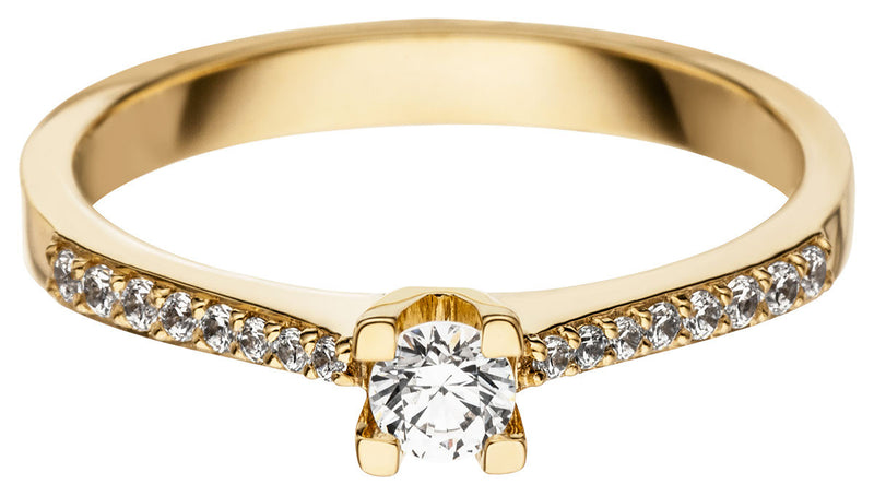 Anelly Verlobungsringe 585 Gold mit Diamanten in Gelbgold