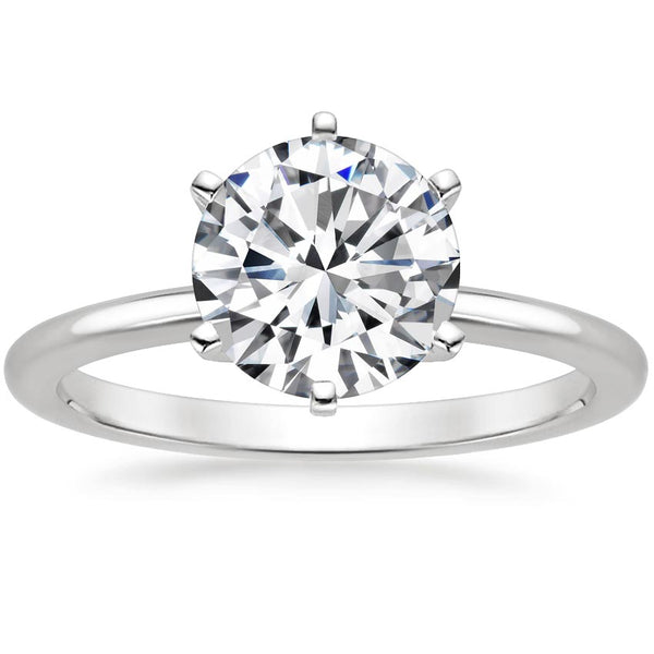 Six-Prong Petite Comfort Fit Engagement Ring