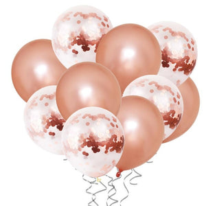 Rose Gold Birthday Party Balloons Set - iKids