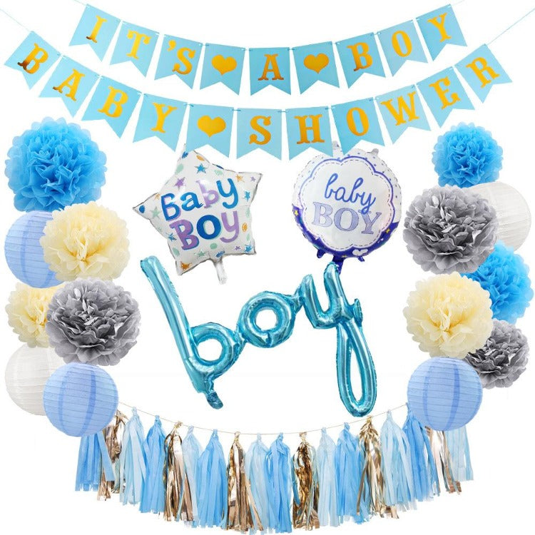 It's Baby Boy Shower Decorations Balloons - iKids