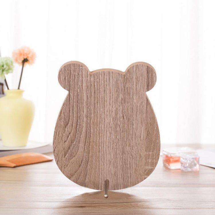 Bear Wooden Message Board Mirror - iKids