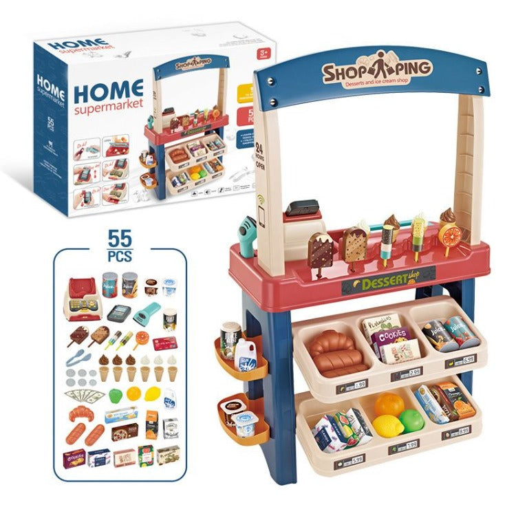 Home Supermarket Pretend Toy Blue - iKids