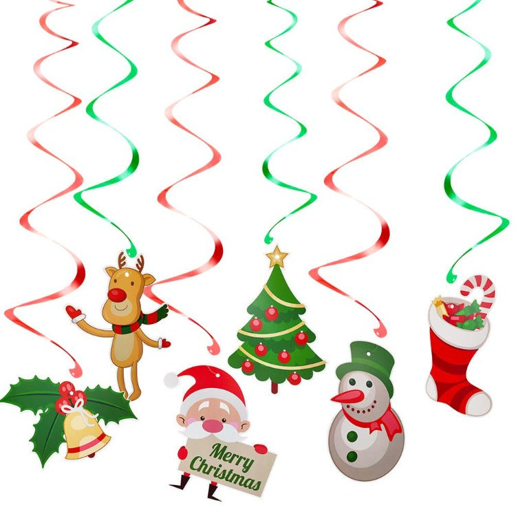 Christmas Hanging Swirl Decorations - iKids