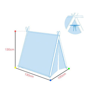 Square Teepee Tent Playhouse Green - iKids