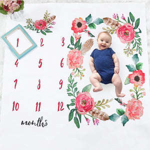 Baby Monthly Blanket Flower - iKids