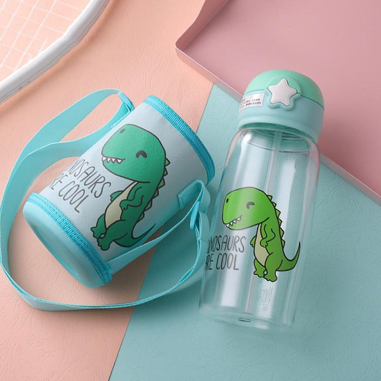 Green Dinosaur Water Bottle - iKids