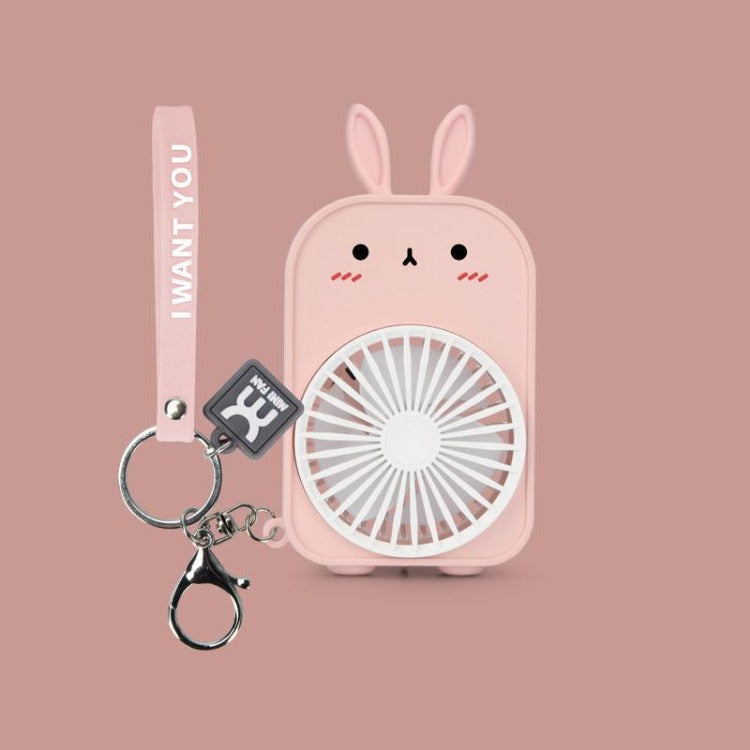 Pink Bunny Pocket Fan - iKids