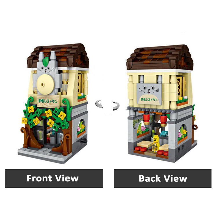 LOZ Mini Street Building Blocks - Japanese Restaurant - iKids