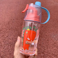 Red Dinosaur Spray Water Bottle - iKids