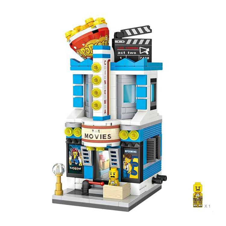 LOZ Mini Street Building Blocks - Movie Theatre - iKids
