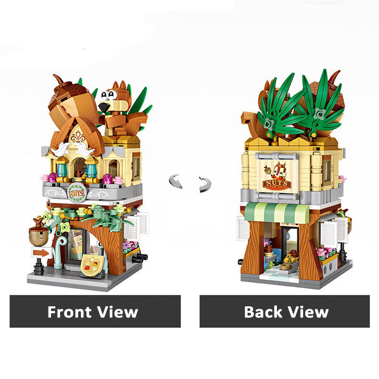 LOZ Mini Street Building Blocks - Squirrel Nuts Shop - iKids