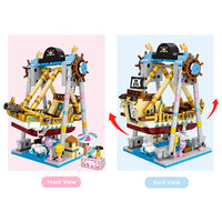 LOZ Amusement Park Blocks Pirate Boat - iKids