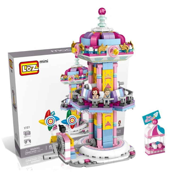 LOZ Amusement Park Blocks Jumping Machine - iKids