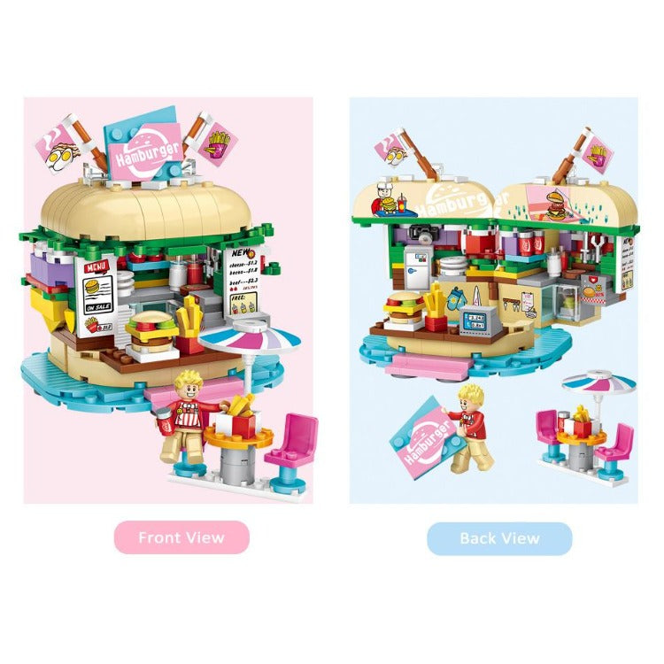 LOZ Amusement Park Blocks Burger Shop - iKids