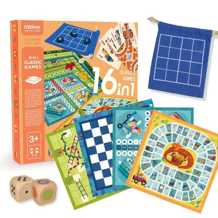Mideer 16 in 1 Classic Family Board Game - iKids