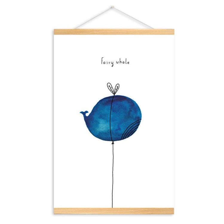 Poster Hanger Frame - Fairy Whale - iKids
