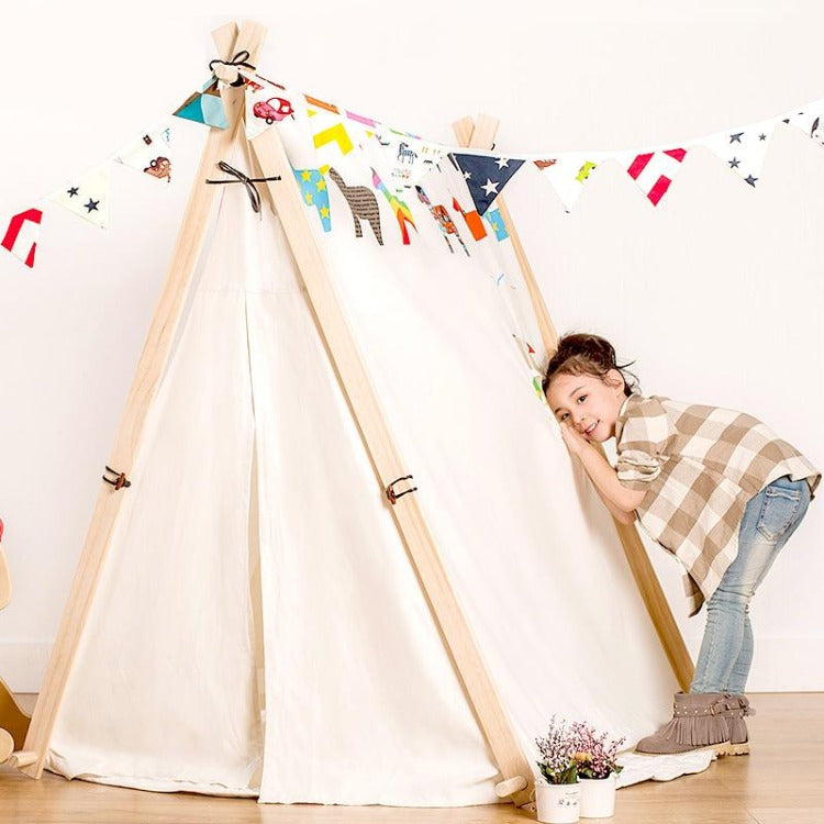 Square Teepee Tent Playhouse Horse - iKids