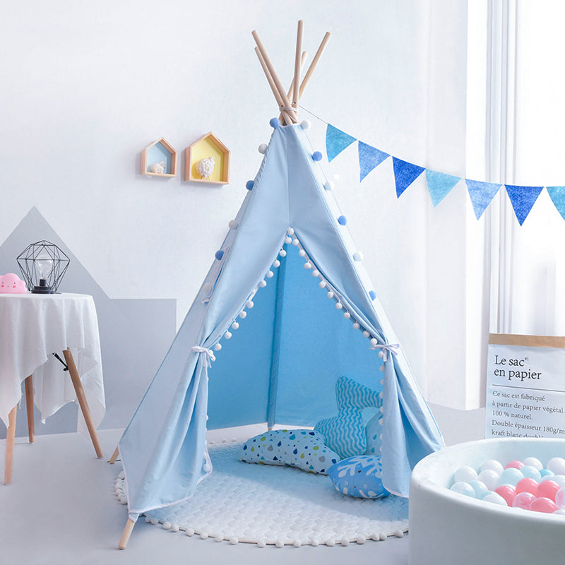 Deluxe Teepee Tent Ball Blue - iKids