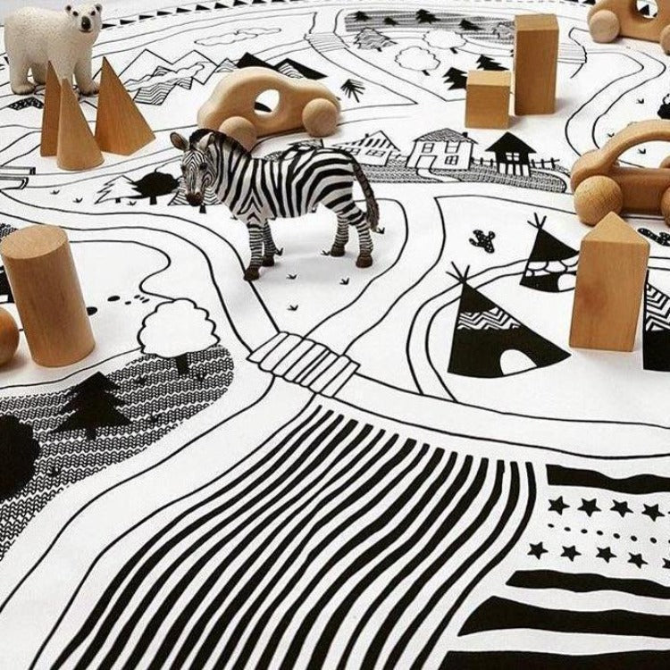 Play Mat Village - Color It - iKids